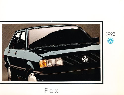 1992 Volkswagen Vw Fox Vg+ 18-Page Sales Brochure Catalog