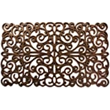 Home & More 90003 Natural Rubber Bronze Scroll Doormat