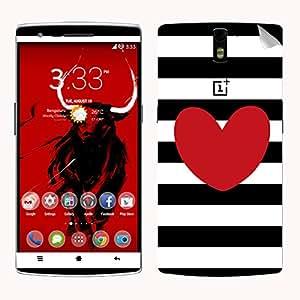 Theskinmantra Mickey Heart SKIN/STICKER for OnePlus One