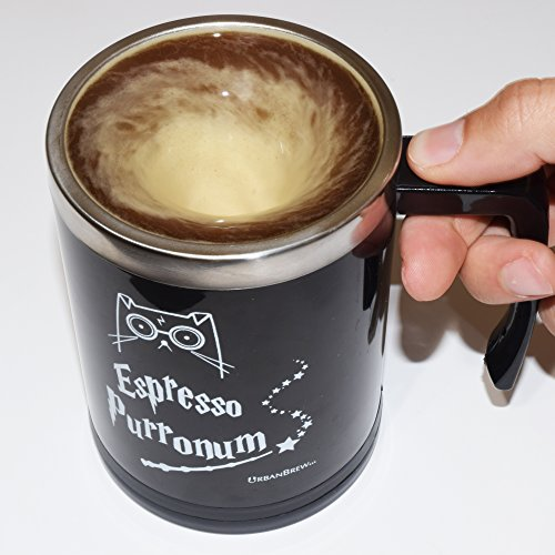 Harry Potter Self Stirring Mug - Urbe The Cat Espresso Purronum - Perfect Christmas Gift For Family, Friends, Harry Potter Fans - UrbanBrew LLC (Star Wars Blowers compare prices)