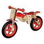 Bino Wooden Balance Bike Moto (Red)