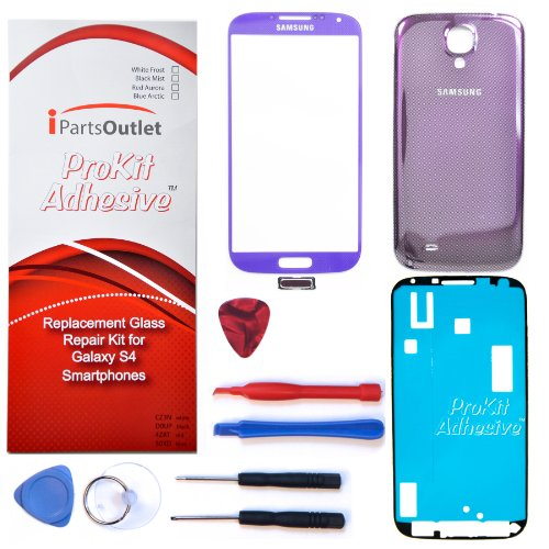 S4 Prokit Adhesive Repair Kit For Samsung Galaxy S4 Replacement Screen Glass Lens Repair Kit S4 Iv I9500 S4 Prokit Adhesive (Purple Mirage)