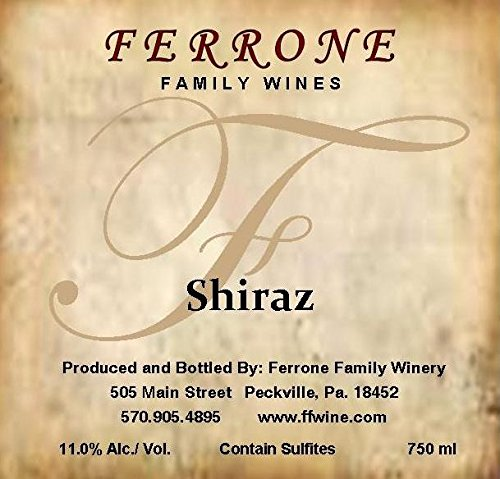 Nv Ferrone Family Winery Shiraz 750 Ml