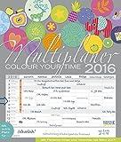 Multiplaner - Colour your time 2016: Familientimer mit Ferienterminen und Vorschau bis März 2017