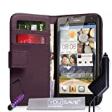 Yousave Accessories HU-AW01-Z760MPC Etui portefeuille en PU/cuir avec Mini Stylet + Chargeur allume-cigare pour Huawei Ascend G740 Violet