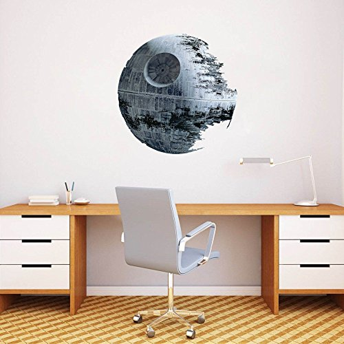 STAR WARS DEATH STAR Wall Art Decor 50CM Star Wars Home Decor Sticker rimovibile Peel & Stick