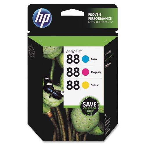 HP 88 Combo-pack Cyan/Magenta/Yellow Officejet Ink Cartridges