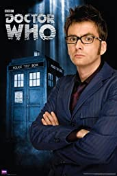 Doctor Who Poster - 10th Doctor (David Tennant) and TARDIS Exclusive 36x24 inch print
