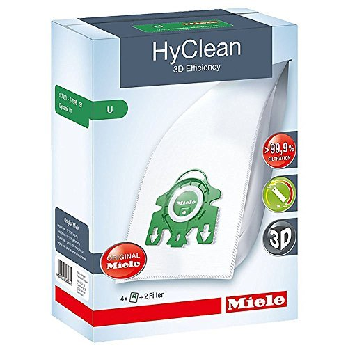 Miele Type U HyClean Bags & Filters, For S7000-S7999 UprightUpright, 4 Pack (Miele Upright compare prices)