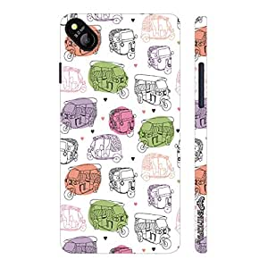 Micromax Bolt D303 Rickshaw Walla designer mobile hard shell case by Enthopia