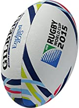 Gilbert Men's Official RWC 2015 Replica Ball - White, Size 5