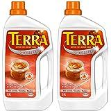 Terra - Produit de Lavage pour Carrelages - Savon d'Huile de Lin - Bouteille 0.9 L - Lot de 2
