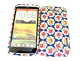 Designer Blue Rose Shabby Chic Vintage Htc One X Tpu soft gel case/cover