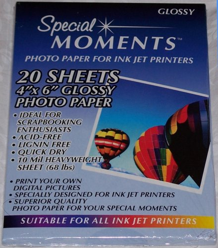 Special Moments - Photo Paper for Ink Jet Printers