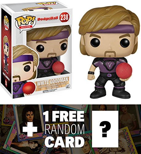 White Goodman: Funko POP! x DodgeBall Vinyl Figure + 1 FREE Official Hollywood themed Trading Card Bundle [62781] (White Goodman compare prices)
