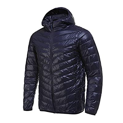 Men's Packable Ultra Light Down Hooded Outdoor Sports Jacket