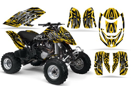 Polaris Predator 500 graphics racing decal sticker kit NO3333 Red