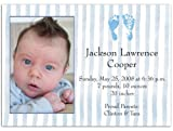 Two Blue Feet Birth Announcements - Set of 20