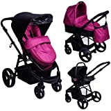 Red Kite Push Me Zebu 3-in-1 Travel System in Loganberry