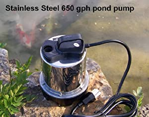 Easy Pro Stainless Steel Mag-Drive Pond Pump-650 gph