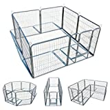 My1stPet 8 Panels Metal Exercise Dog Playpen with Door,...
