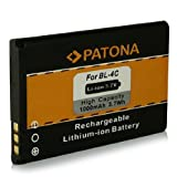 Battery BL-4C BL4C for Nokia 1661 1662 2220 slide 2650 2651 2652 2690 3108 3500 classic 5100 6100 6101 6103 6125 6126 6131 6133 6136 6170 6260 6300 6820 7200 7270 X2-00 and more... [ Li-ion, 1000mAh, 3.7V ]