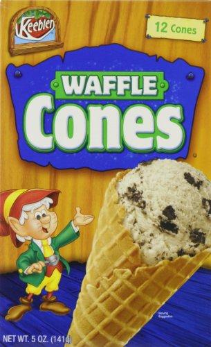 Keebler Ice Cream Waffle Cones, 12-Count Cones (Pack of 6) (Mini Ice Cream Waffle Cones compare prices)