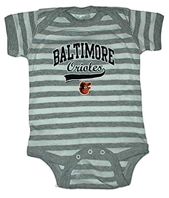 Baltimore Orioles Striped MLB Newborn Baby Creeper USA Printed