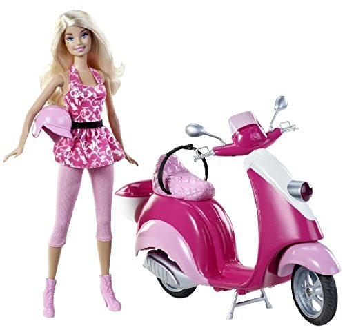 Mattel Barbie BARBIEX5448 gram scooter On a parallel Import doll figure car als Weihnachtsgeschenk