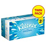 Kleenex Original Regular White Tissues Twin Pack 2 x 72