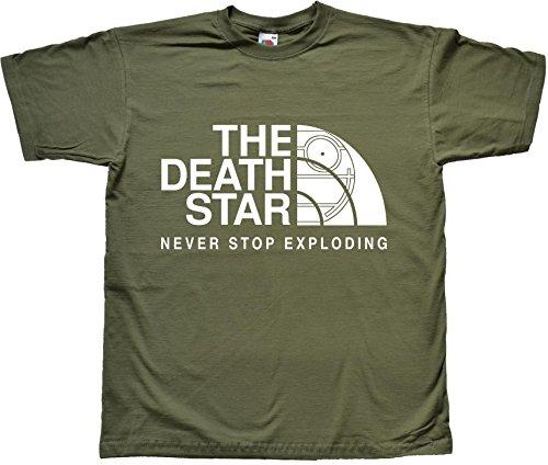 The Death Star Divertente parodia Star Wars parodia Verde T Shirt Extra Extra Large