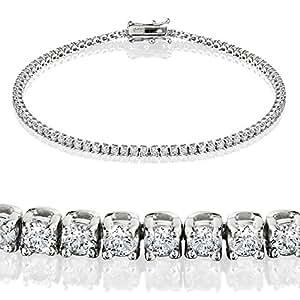 Pompeii3 Inc. 2.00CT Diamond Tennis Bracelet 14K White Gold