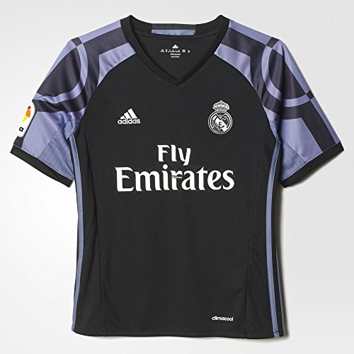 Adidas Real Madrid CF 3rd Youth Jersey-BLACK (L) (Adidas Real Madrid Cf compare prices)