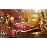 """Dolls Of India """"Princess And The Maid"""" Reprint On Paper - Unframed (28.57 X 20.96 Centimeters)"""