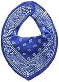 Pippi Bandana Bibs - Babero para Bebé-Niñas, color azul, talla única