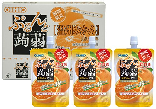 オリヒロ ぷるんと蒟蒻ゼリー 温州みかん 130g×8個