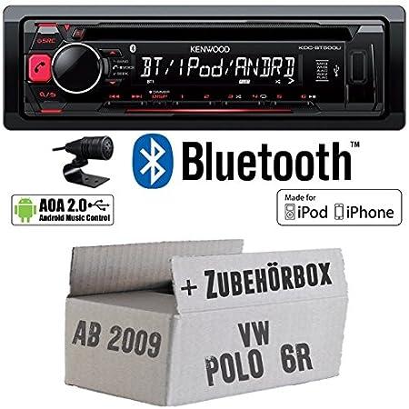 VW Polo 6R - Kenwood KDC-BT500U - Bluetooth CD/MP3/USB Autoradio - Einbauset