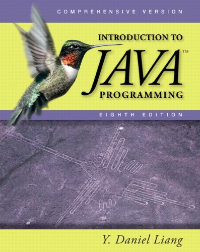 Introduction to Java Programming, Comprehensive (8th...