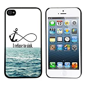 ABC 1pcs Newest Cute Hard Case for Iphone 5 5s (I Refuse To Sink)