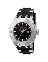 Invicta Men's 6182 Reserve Collection GMT Stainless Steel Black Rubber Watch
