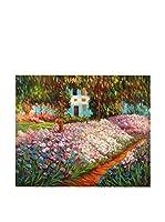 Arte Dal Mondo Pintura al Óleo sobre Lienzo Monet Iris Nel Giardino Di Monet