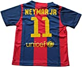 2014/2015 FC BARCELONA HOME NEYMAR JR. 11 FOOTBALL SOCCER KIDS JERSEY (8-9 YEARS)