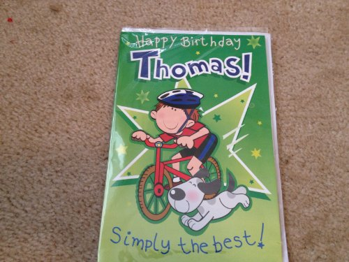 Happy Birthday Thomas - Singing Birthday Card - 1