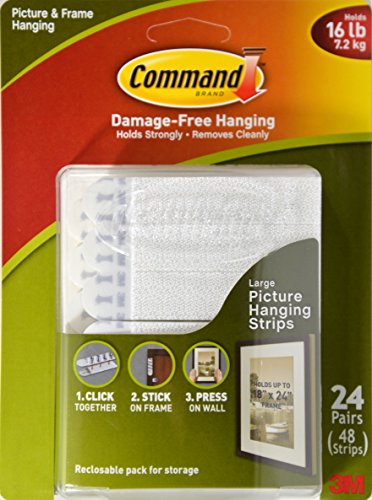 Command Picture Amp Frame Hanging Strips Large 24 Pair