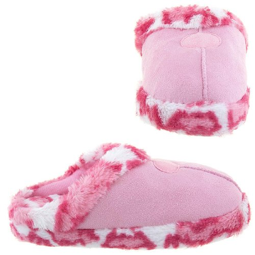 Cheap Easy Pink Leopard Slippers for Women (B009TH31E2)