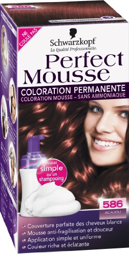 schwarzkopf perfect mousse coloration permanente acajou 586 - Coloration Sans Ammoniaque Schwarzkopf