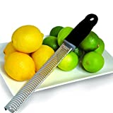 Professional Cheese Grater, Lemon Zester,Razor Sharp 18/8 Stainless Steel, Microplane Style