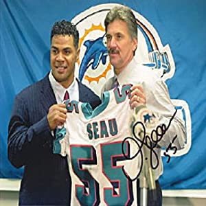 Junior Seau Autographed Signed 8x10 Miami Dolphins Photo by Hollywood Collectibles