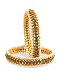 Nainika's Fashion Jewellers Multi-Colour Metal Bangle Set For Women - B00S7SGEIO