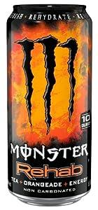 Monster Energy Rehab Orangeade, 15.5-Ounce (Pack of 24)